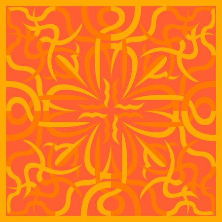 modern contemporary yellow and orange overlap lines pattern Illusztráció