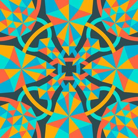 modern geometric and polygon pattern on dark green Illusztráció