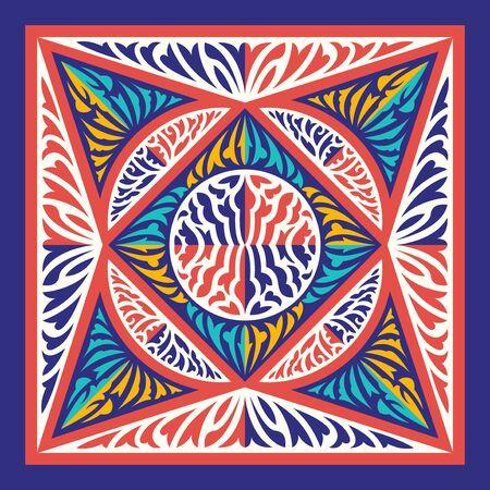 contemporary switching colors pattern on orange Illusztráció