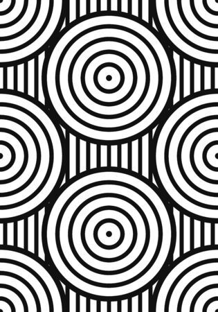 vector modern white multi circle geometric lines on black background for brochure banner and publication