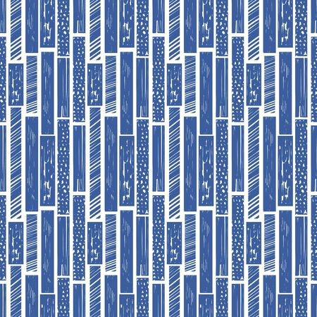vector blue ethnic multi rough rectangle seamless pattern on white