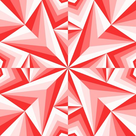 modern contemporary geometric switching red gradient pattern Stock Illustratie