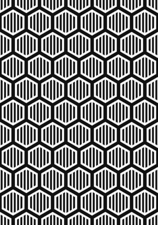 vector modern white multi honeycomb hexagon geometric on black background for brochure banner and publication Vektorgrafik