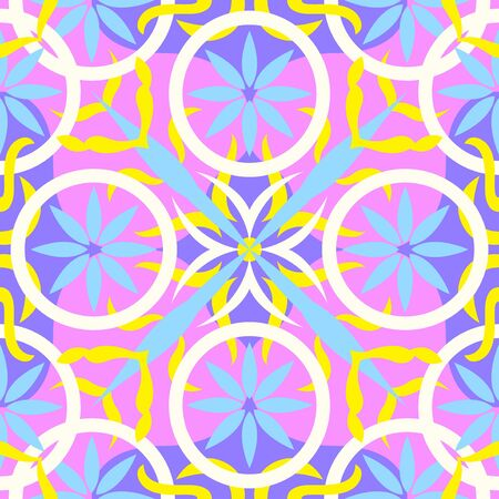 modern contemporary colorful floral pattern on pink