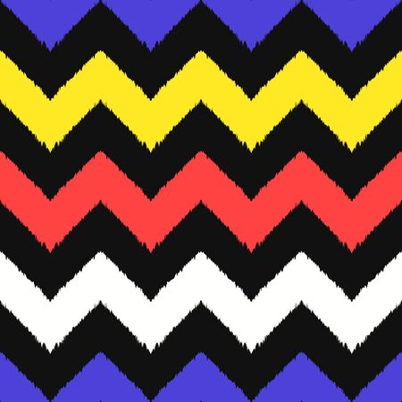 vector modern rough ethnic chevron seamless pattern on black