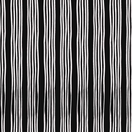 vector white rough vertical lines brush seamless pattern on black
