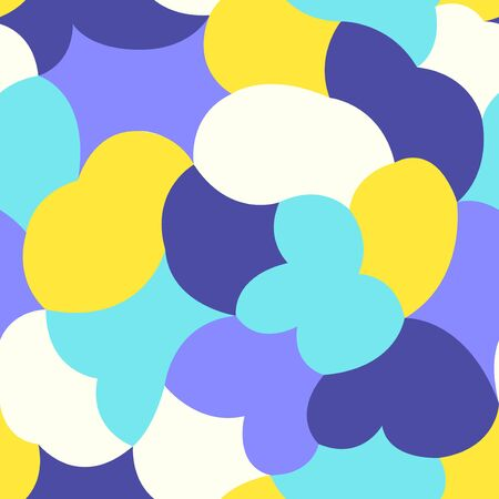 vector modern colorful rounded and sharp freeform geometric seamless pattern