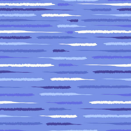 vector marine blue rough doodle freeform lines brush stroke seamless pattern on white