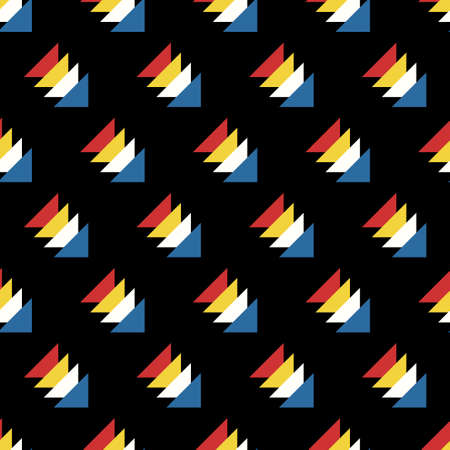 vector modern triangle overlapped seamless pattern on black
