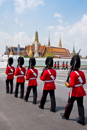 The Royal Guard patrol around the Grand Palace