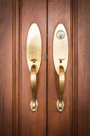 door lock: door handles with key