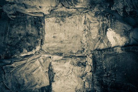 vestidos antiguos: ropa vieja se desintegraron como textura Foto de archivo