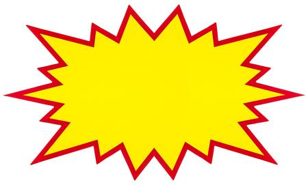 explosion, blank pop art speech bubble isolated on white Stock Photo - 73462952