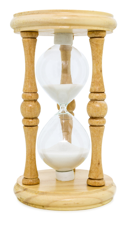 hourglass isolated on white Banque d'images