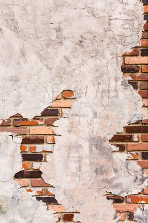 Plaster is a pattern to show on brick wall as background Stock Photo