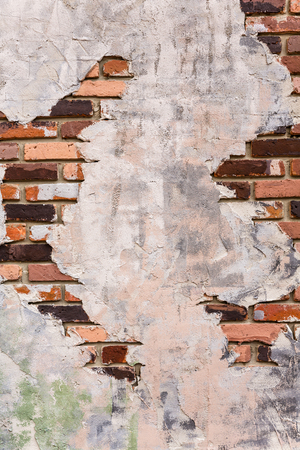 revetment: Plaster is a pattern to show on brick wall as texture Stock Photo