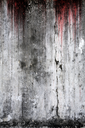 Bloody background scary old wall, concept of horror and Halloween
