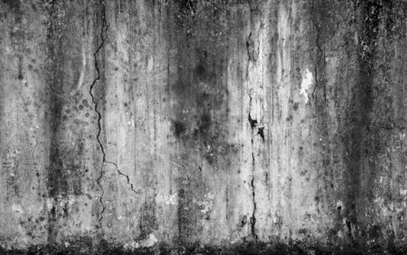 Abstract background scary old cement wall and cracked concrete, concept of horror and Halloween