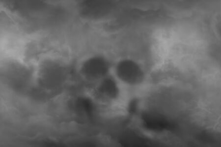 Scary skull from a cloud of smoke, concept of horror and Halloween Imagens - 127913148