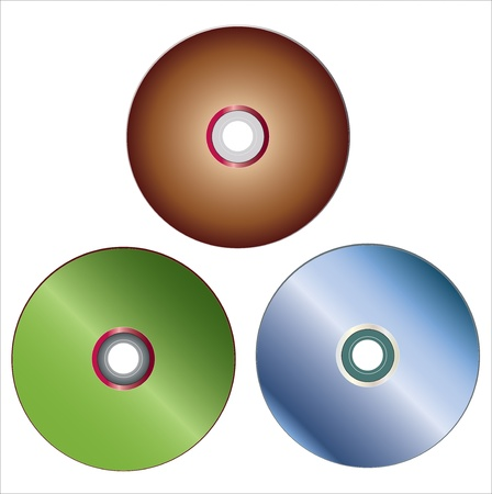 colored compact discs Illustration