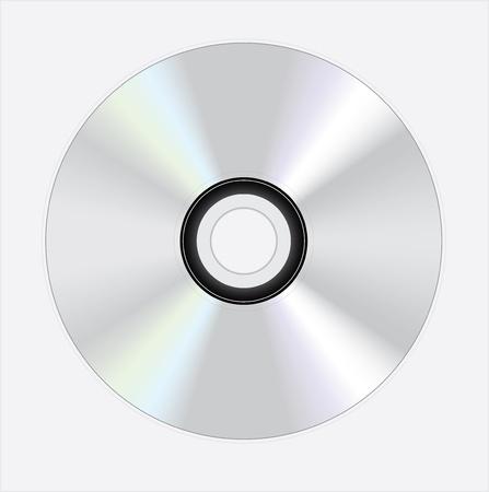 shiny silver disc on white background Illustration