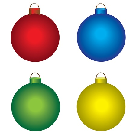 colored christmas balls Stock Vector - 10379951