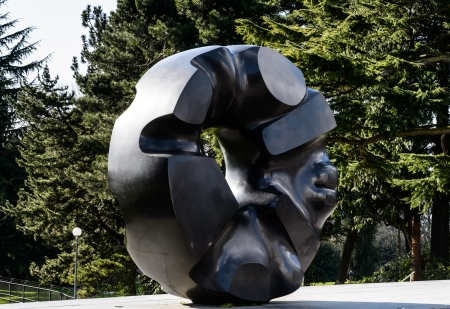Black Sun sculpture located in Volunteer Park, Seattle Editorial