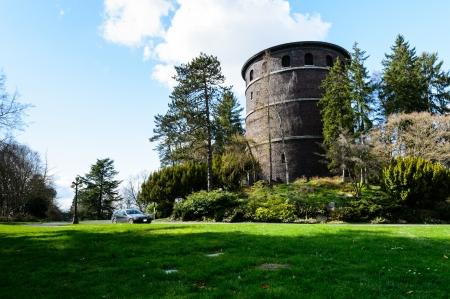 Krajobraz widok z wieży znajduje się w Volunteer Park, Seattle Publikacyjne
