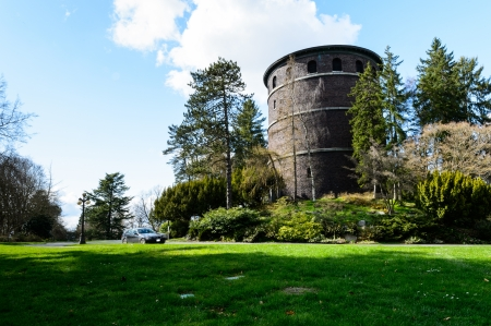 Landscape view of a tower located in Volunteer Park, Seattle