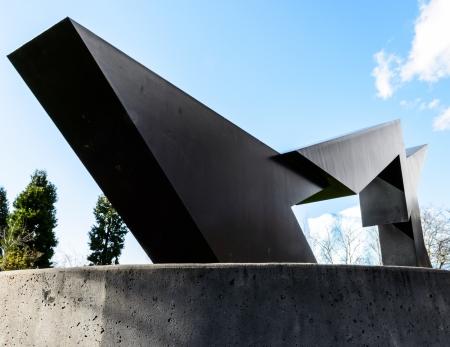 abstracted: Sculpture abstracted of Black Lightning located in Seattle Center, Washington