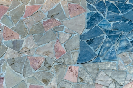 Multicolor stone wall texture background Stock Photo