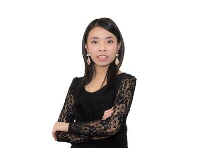 Azjatyckie kobieta w zły emocji