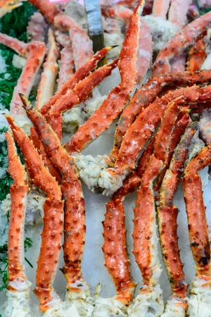 soldier fish: Legs & Claws of Jumbo Alaskan King Crab Stock Photo