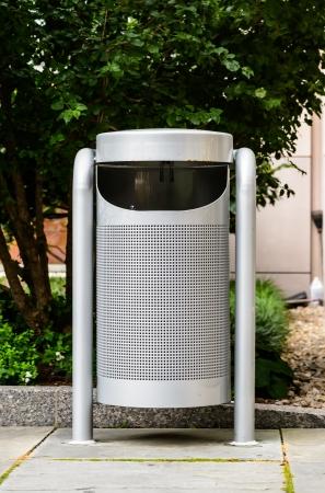 Modern trash bin Stock Photo