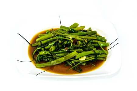Stir Fried Water Spinach, Thai food