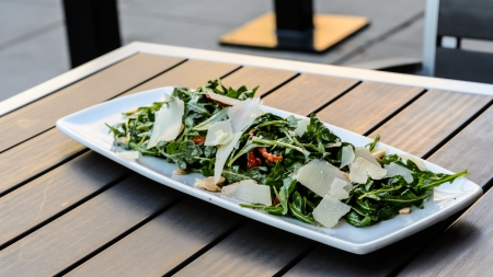 arugula salad Stock Photo