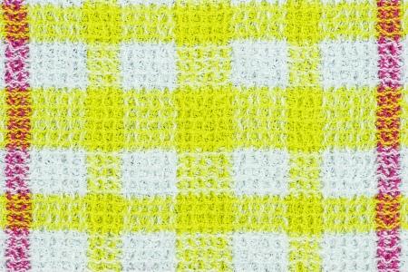 Seamless retro white-yellow square tablecloth photo