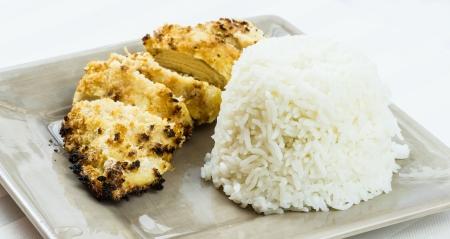 tonkatsu, Kotlet schabowy z ryżem Zdjęcie Seryjne