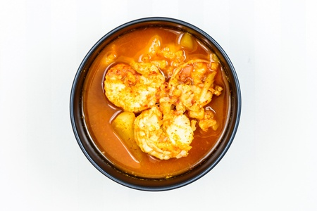 Spicy Soup with Shrimp - Thai food photo