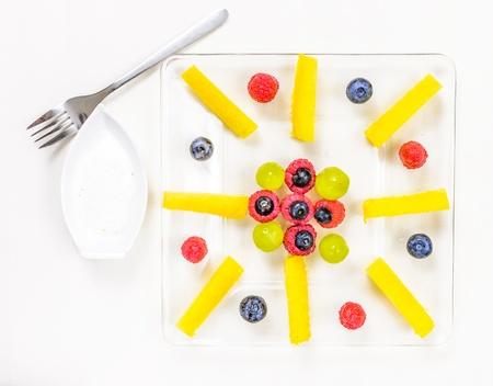 Asortyment egzotycznych owoców