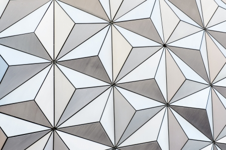 geosphere: Abstract triangle background from the outside of a geodesic dome structure