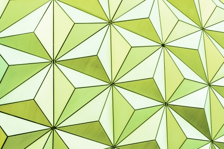 Abstract triangle background from the outside of a geodesic dome structure