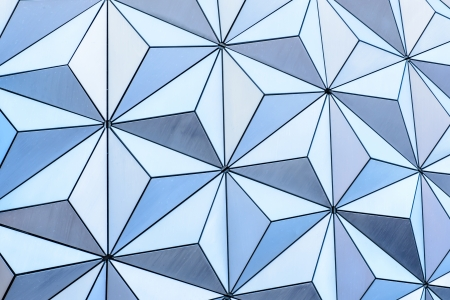Abstract triangle background from the outside of a geodesic dome structure photo