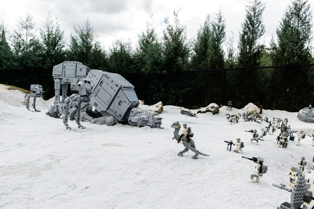 ORLANDO, USA - DECEMBER 22, 2013: LEGO STAR WARS Miniland at Legoland Orlando on December 22, 2013 in Orlando, Florida.