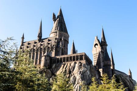 harry: ORLANDO, USA - DECEMBER 19, 2013: The Wizarding World of Harry Potter in Adventure Island of Universal Studios Orlando. Universal Studios Orlando is a theme park resort in Orlando, Florida.