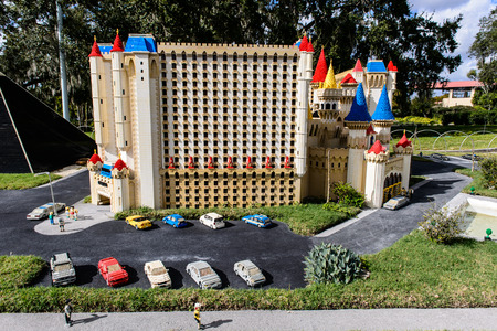 ORLANDO, USA - DECEMBER 22, 2013: Miniland at Legoland Orlando on December 22, 2013 in Orlando, Florida.