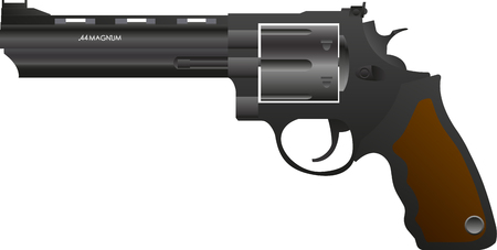 vector .44 magnum on a white background Illustration