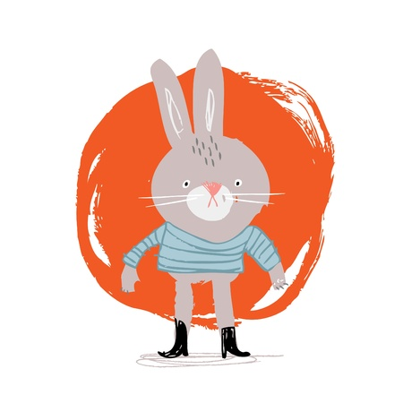 Bunny In Boots Stock Vector - 18996519