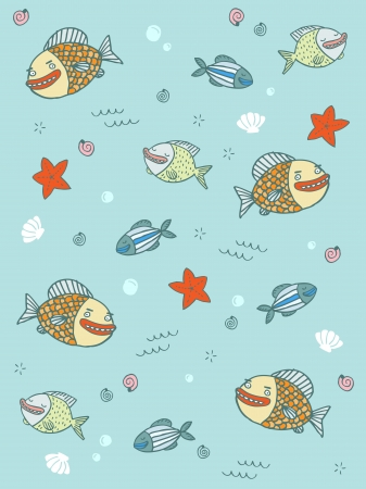 Fish Pattern Stock Vector - 18996536