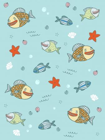 Fish Pattern Stock Vector - 18996536